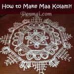 How to Make Maa Kolam