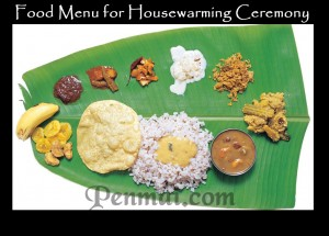 food menu for housewarming ceremony1 copy