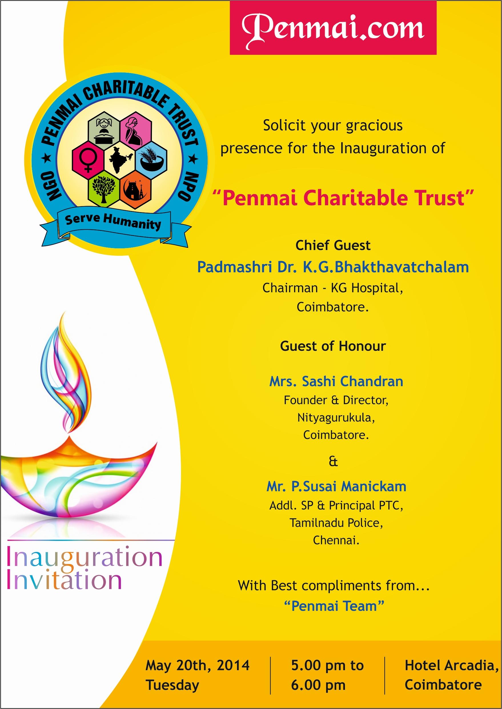 Name:  Penmai Foundation Inaugural Invitation.jpg Views: 1996 Size:  984.9 KB